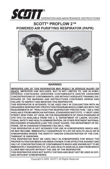 scott av 2000 user manual