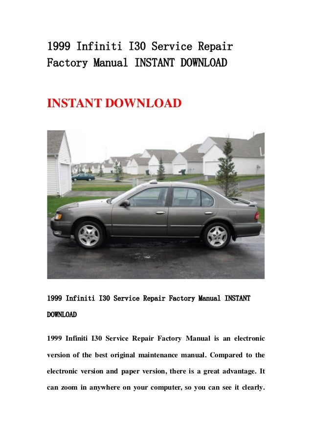 2001 infiniti i30 repair manual