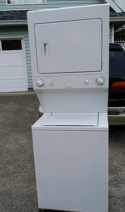 frigidaire stackable washer dryer manual