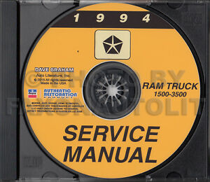 1994 dodge ram 1500 service manual