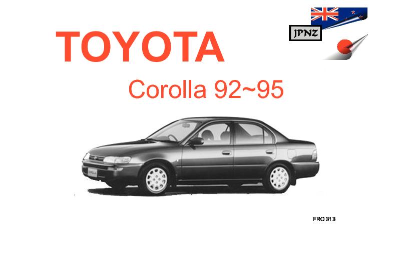 1995 toyota corolla owners manual