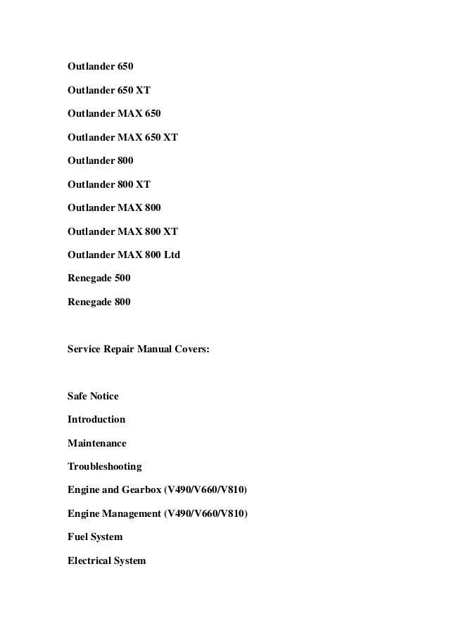 can am outlander 800 service manual pdf