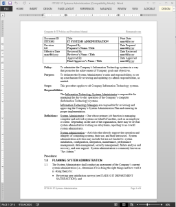 free administrative procedures manual template