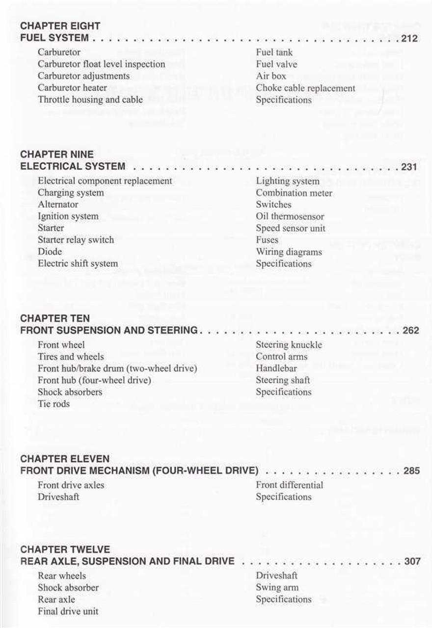 honda rancher 350 es repair manual