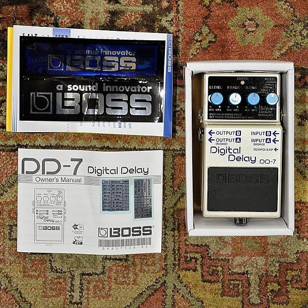 boss digital delay dd 7 manual