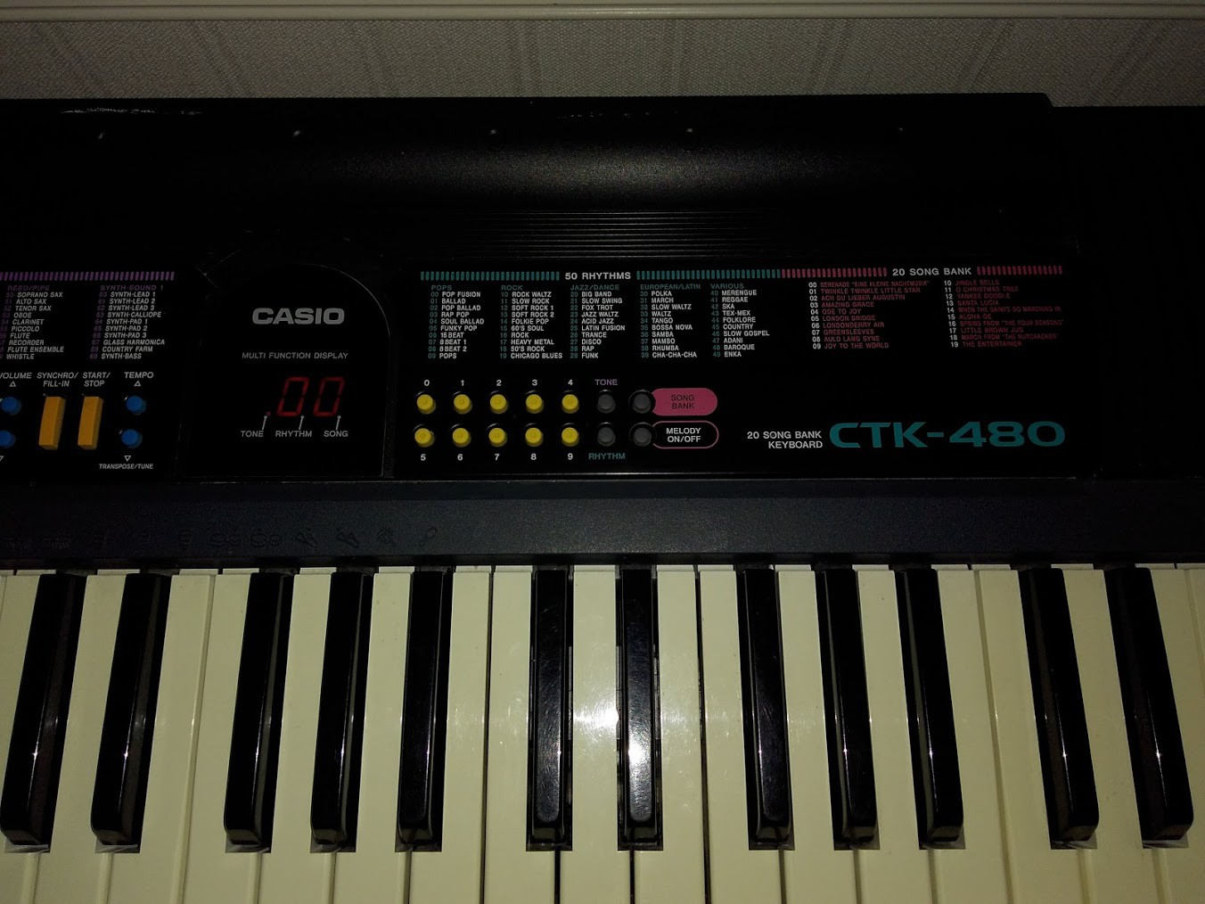 casio sa 20 keyboard manual