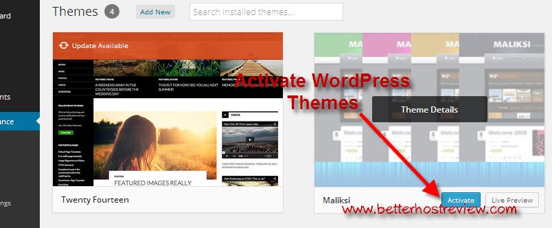 how to install wordpress theme manually