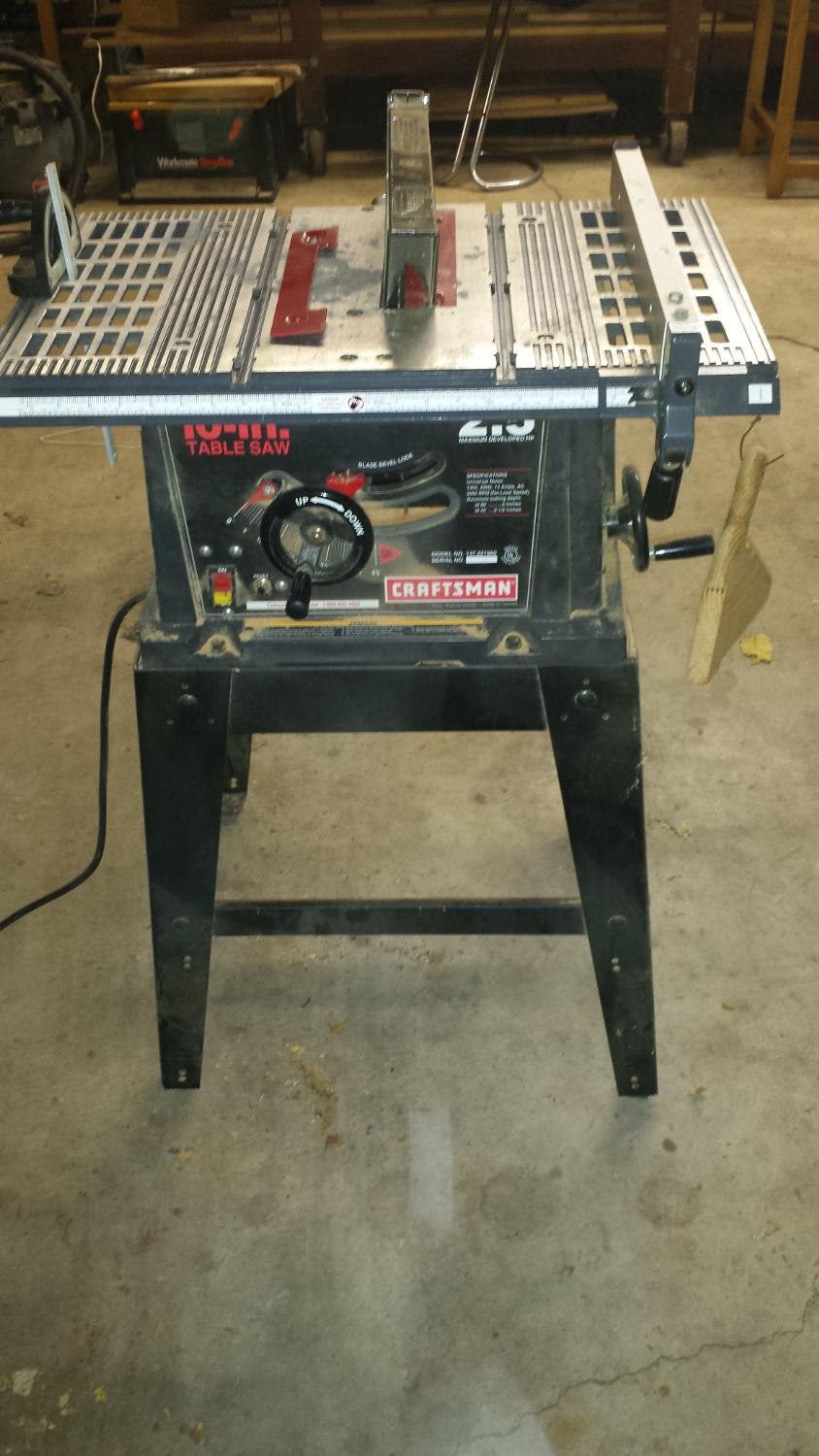 craftsman 10 inch table saw manual