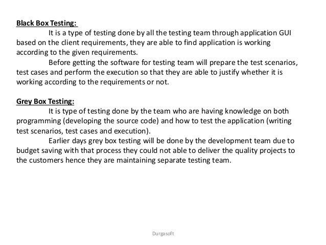 manual testing material by durgasoft