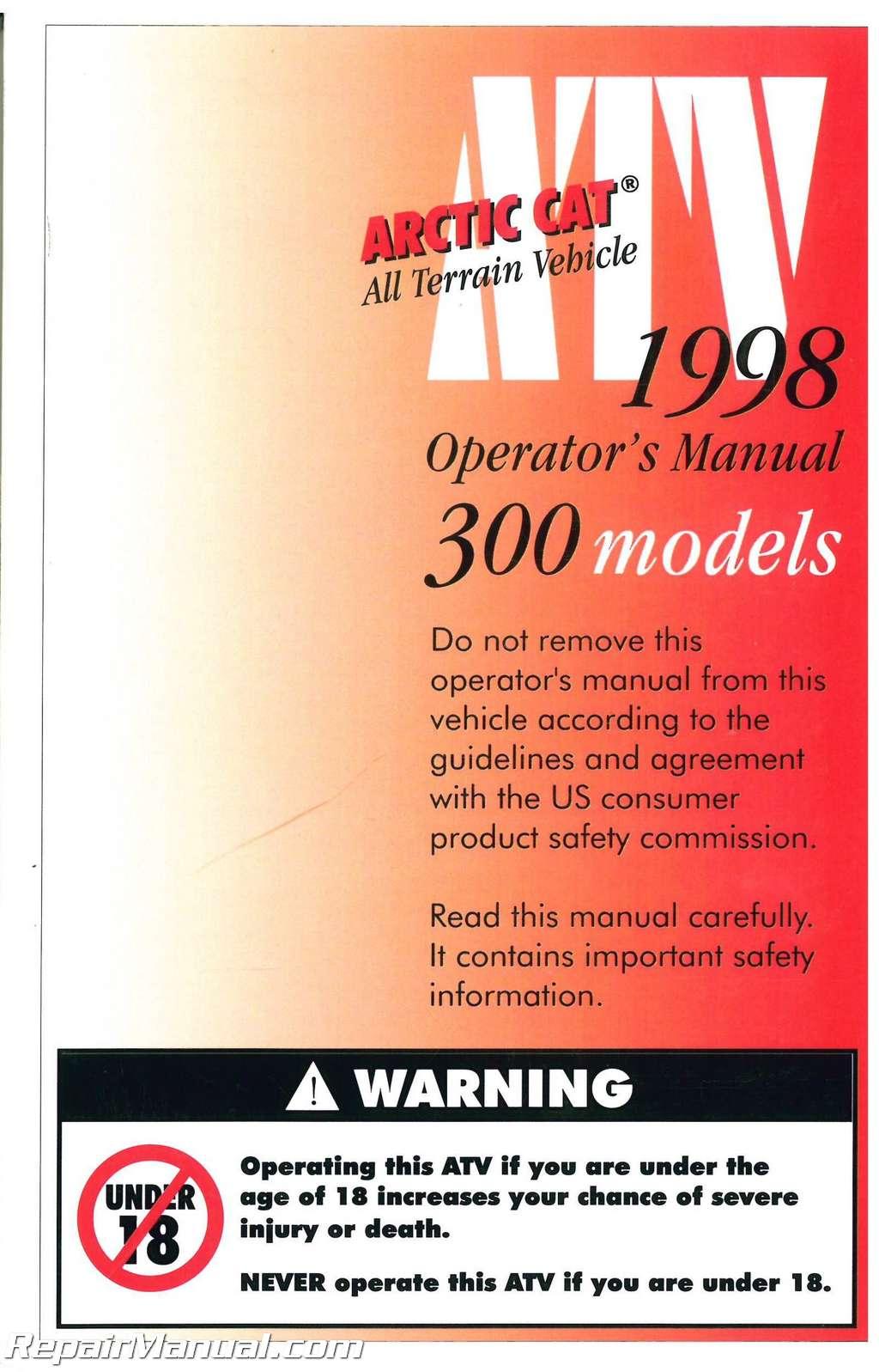 1998 arctic cat 300 4x4 manual