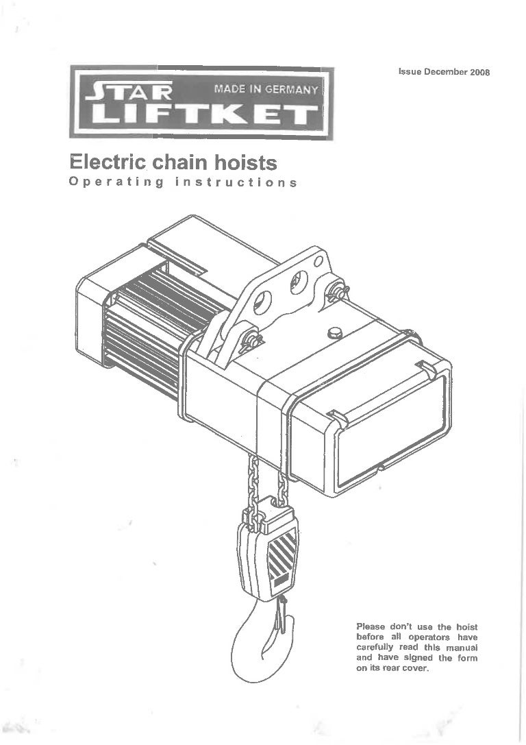 how to use manual chain hoist