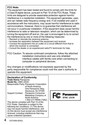 panasonic dmc zs30 owners manual