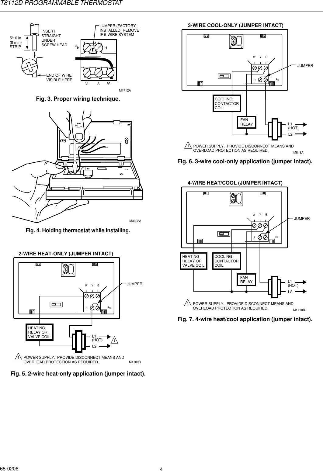 honeywell visionpro 8000 thermostat user manual