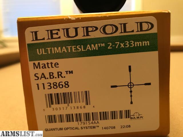 leupold ultimate slam scope manual