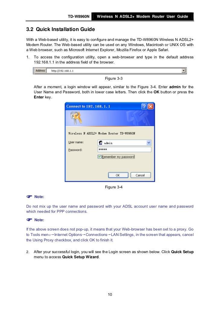 tp link td 8816 manual