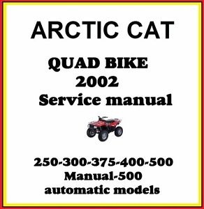 arctic cat 300 4x4 service manual