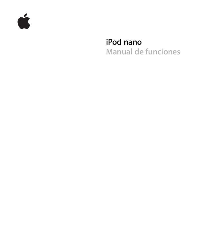 ipod nano 3rd generation manual