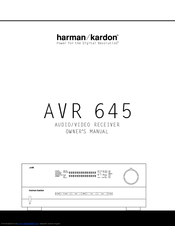 harman kardon avr 645 manual