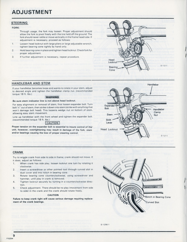 sears free spirit bike manual