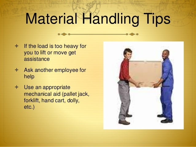 manual material handling and back injuries