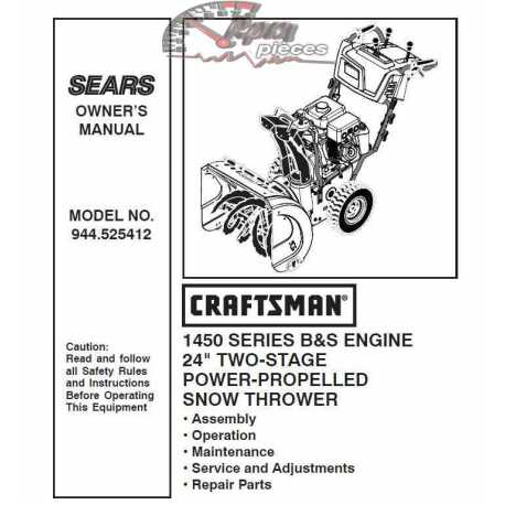 craftsman 8 26 snowblower manual