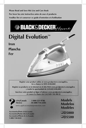 black and decker digital advantage iron manual