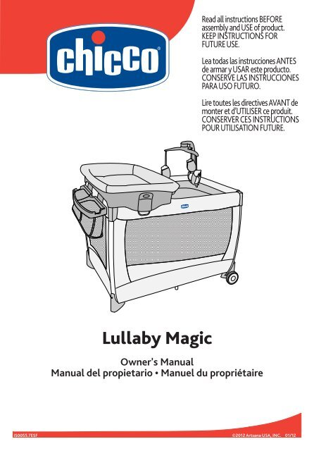chicco lullaby magic playard manual