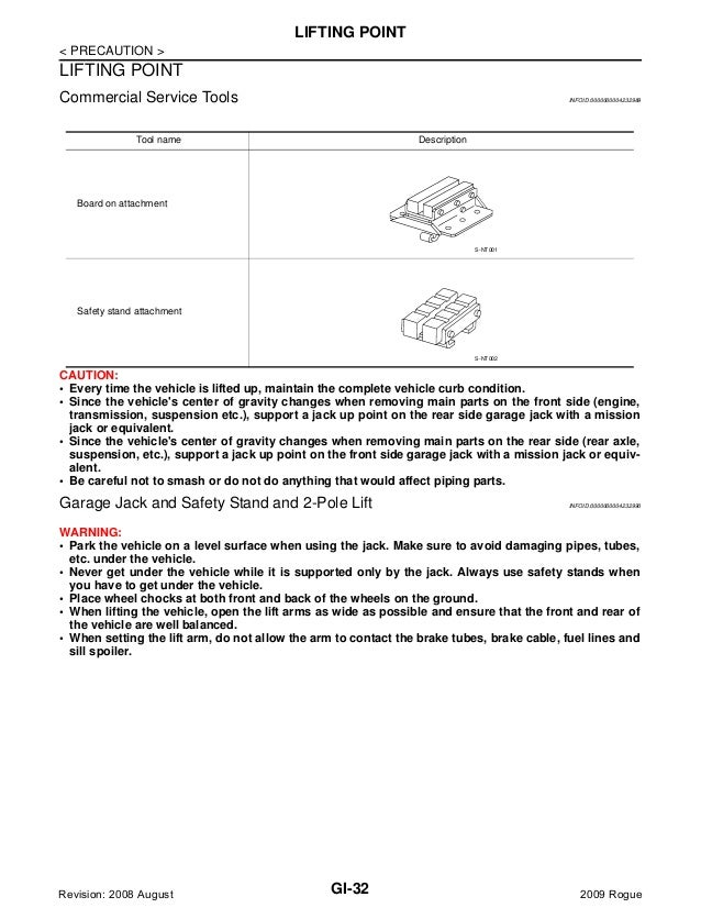 2009 nissan rogue repair manual
