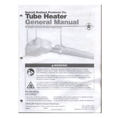 easy radiant tube heater manual