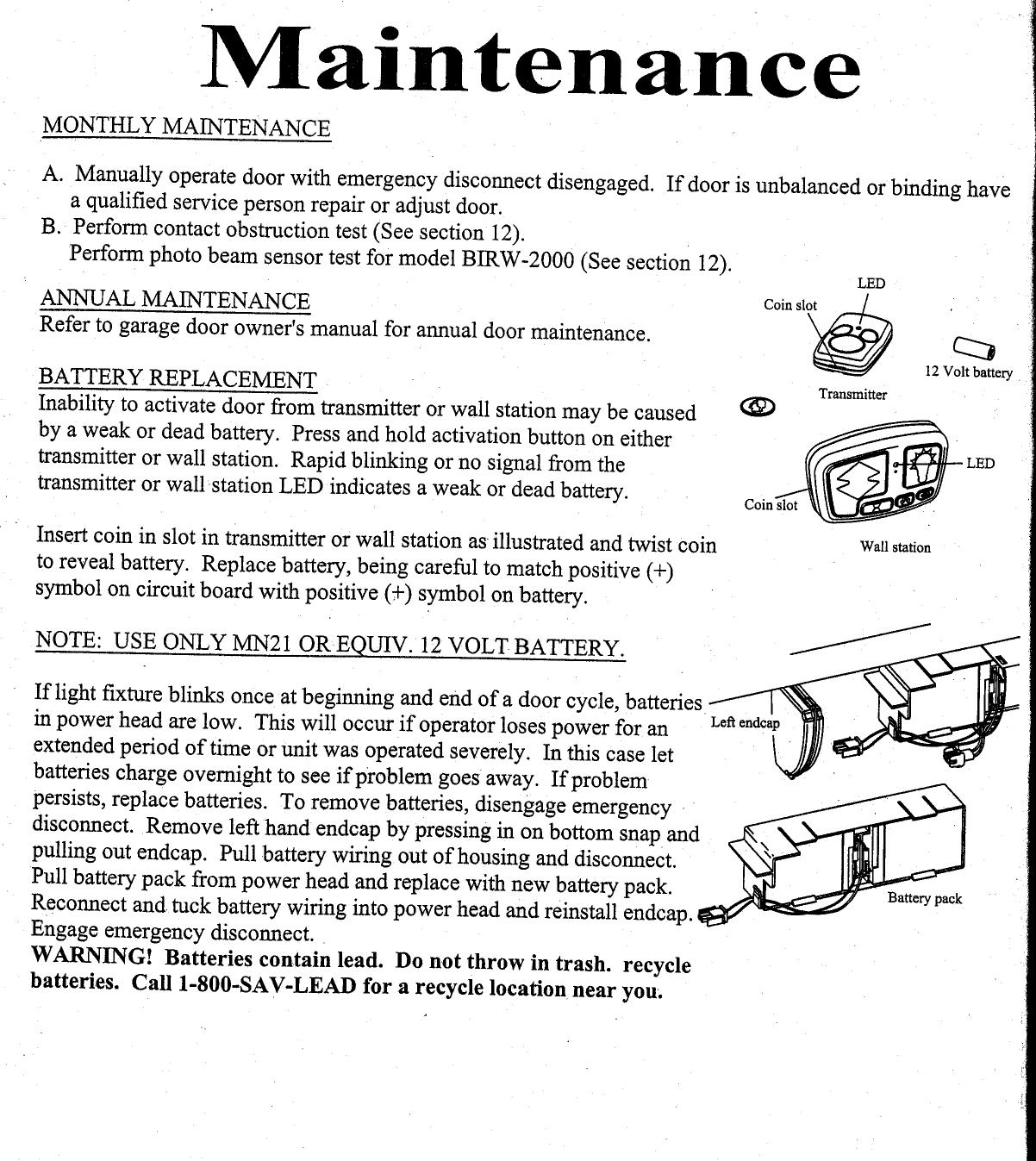 dalton garage door opener manual