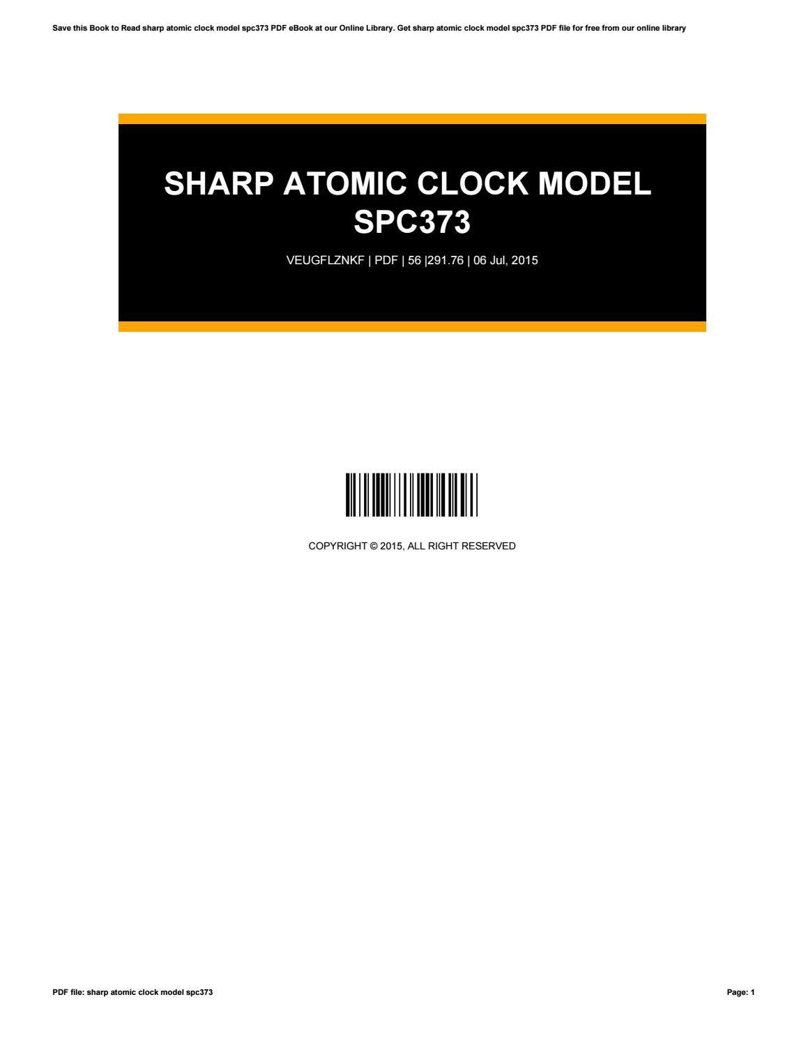 sharp atomic clock manual spc373
