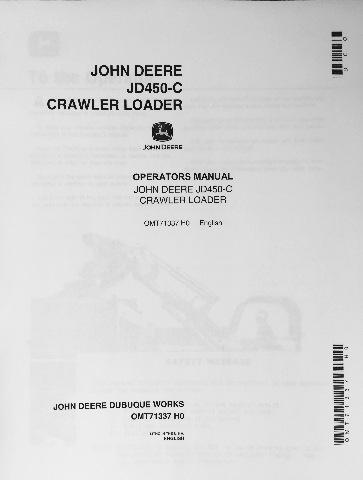 john deere 1010 crawler manual