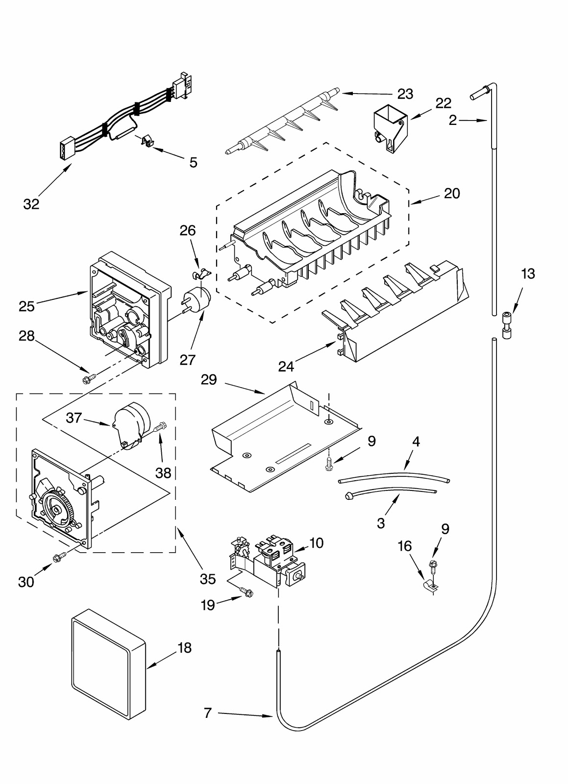 kenmore ice maker parts manual