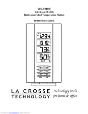 la crosse weather station manual ws 2010