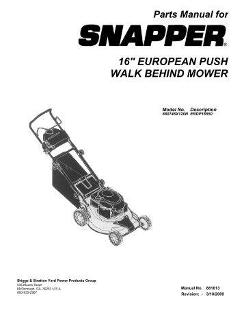 lawn boy push mower manual