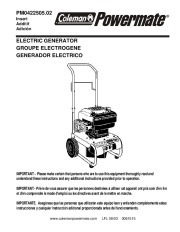 manual for coleman powermate 6250 generator