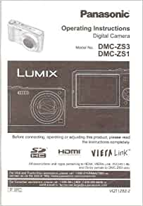 panasonic lumix dmc zs3 manual