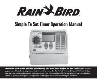 rain bird sst 6001 manual
