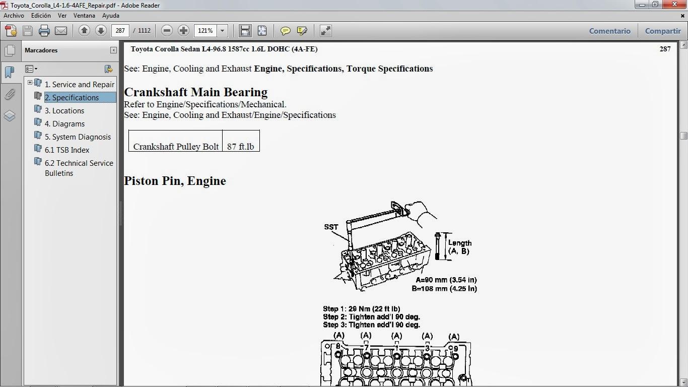 toyota corolla service manual pdf