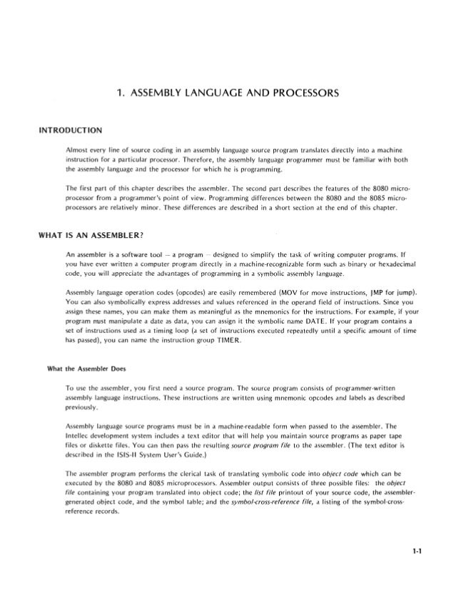 z80 assembly language programming manual